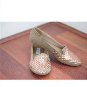 Steve Madden rose gold studded loafers/flats